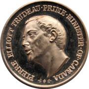 Médaille - Piere Elliot Trudeau (Gold-tone) – avers