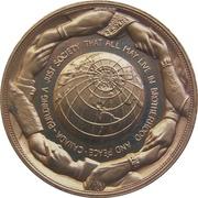 Médaille - Piere Elliot Trudeau (Gold-tone) – revers
