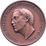 Médaille - Piere Elliot Trudeau (Bronze-tone) – avers