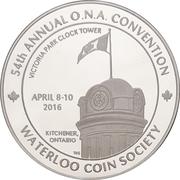 Medal - Ontario Numismatic Association Convention 2016 (Kitchener, Ontario) – avers