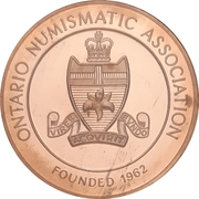 Medal - Ontario Numismatic Association Convention 2013 (Kitchener, ON) – revers