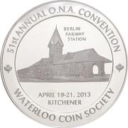 Medal - Ontario Numismatic Association Convention 2013 (Kitchener, Ontario) – avers