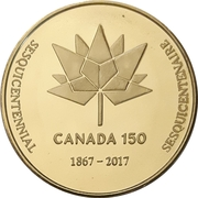 Medal - Waterloo Coin Society (Canada 150) – revers