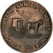 Medal - Waterloo Coin Society (12th Annual Banquet) – revers