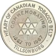Medal - Tillsonburg, Ontario (Canadian centennial) – avers
