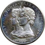 Medal - Confederation Centennial (Victoria & Elizabeth II) – avers
