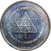 Medal - Confederation Centennial (Victoria & Elizabeth II) – revers