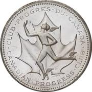 Medal - Canadian Centennial (Canadian Progress Club) – revers