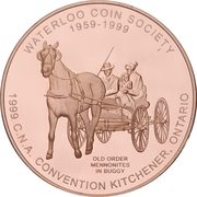 Medal - Canadian Numismatic Association 1999 (Kitchener, Ontario) – avers