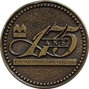 Token - 175 Years Bank of Montreal (French version) – avers