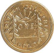 Dollar - British Columbia Gold - Maple Leaf – revers