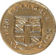 Dollar - British Columbia Gold - Maple Leaf & Union Jack – revers