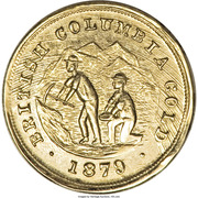 Dollar - British Columbia Gold - Miners – avers