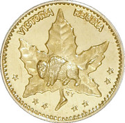 50 Cents - Manitoba - Maple Leaf & Bison – avers