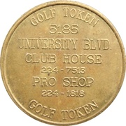 Token - University Golf Club – revers