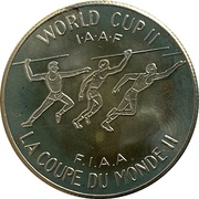 Souvenir Dollar - I.A.A.F. World Cup II (Throwing) – revers