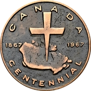 Medal - Canadian Centennial (Martin Luther) – avers