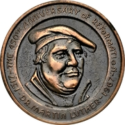 Medal - Canadian Centennial (Martin Luther) – revers
