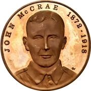 Medal - John McCrae (In Flanders Fields) – avers
