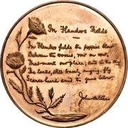Medal - John McCrae (In Flanders Fields) – revers