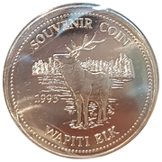 Souvenir Coin Wapiti Elk – revers