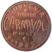 Jeton - Carnaval d'Hiver (Chibougamau, Quebec) – avers