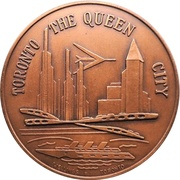 Medal - Canadian National Exhibition 1963 – revers