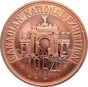 Medal - Canadian National Exhibition 1964 – avers
