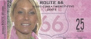 25 cents - Route 66 – avers