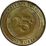 Casino Regina 25 cent token – revers