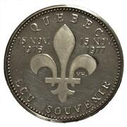Ecu Souvenir Québec - René Levesque – revers