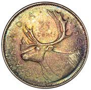 25 cents Elizabeth II (2e effigie, argent 800‰) -  revers