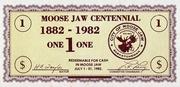 1 Dollar - Centenary of Moose Jaw, Saskatchewan – avers