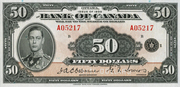 50 Dollars (Anglais) – avers