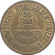 Medal - New Toronto Hydro Golden Jubilee (Ontario) – revers