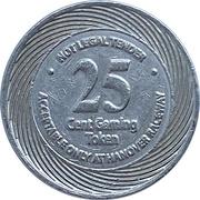 25 Cents - Hanover Raceway (Hanover, Ontario) – revers