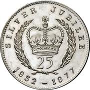 Jeton souvenir - Elizabeth II - Silver Jubilee – revers
