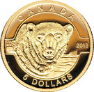 5 dollars L'ours polaire (or) – revers