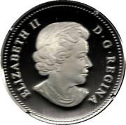 20 dollars Elizabeth II (Feuille d'érable et goutte de cristal) -  avers