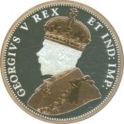 1 cent Georges V (Adieu à la pièce de 1 cent, type 1911-1920) – avers