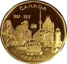1 dollar Terre de nos aïeux (argent) – revers