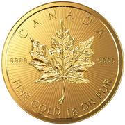 50 cents Elizabeth II (Feuille d'érable, 1 g. investissement d'or) -  avers