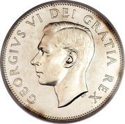 50 cents Georges VI (Légende: GEORGIVS VI DEI GRATIA REX) -  avers