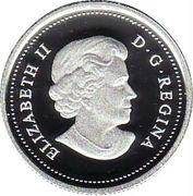 25 cents Bison des bois (colorée, argent) -  avers
