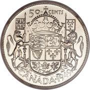 50 cents Georges VI (Légende: GEORGIVS VI DEI GRATIA REX) -  revers