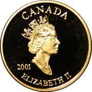 3 cents Premier timbre-poste (plaqué or) – avers