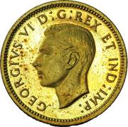 1 cent Georges VI (Essai) – avers