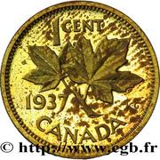 1 cent Georges VI (Essai) – revers