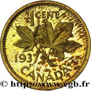 1 cent Georges VI (Essai) – revers