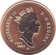 1 cent Elizabeth II Jubilé d'or (ensemble spécimen) – avers